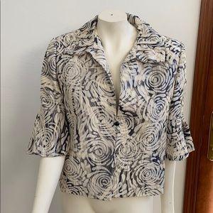 Frascara VTG cream/black dress jacket Size 14